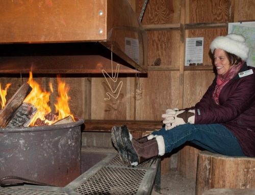 Toast Your Toes in the Warming Hut!